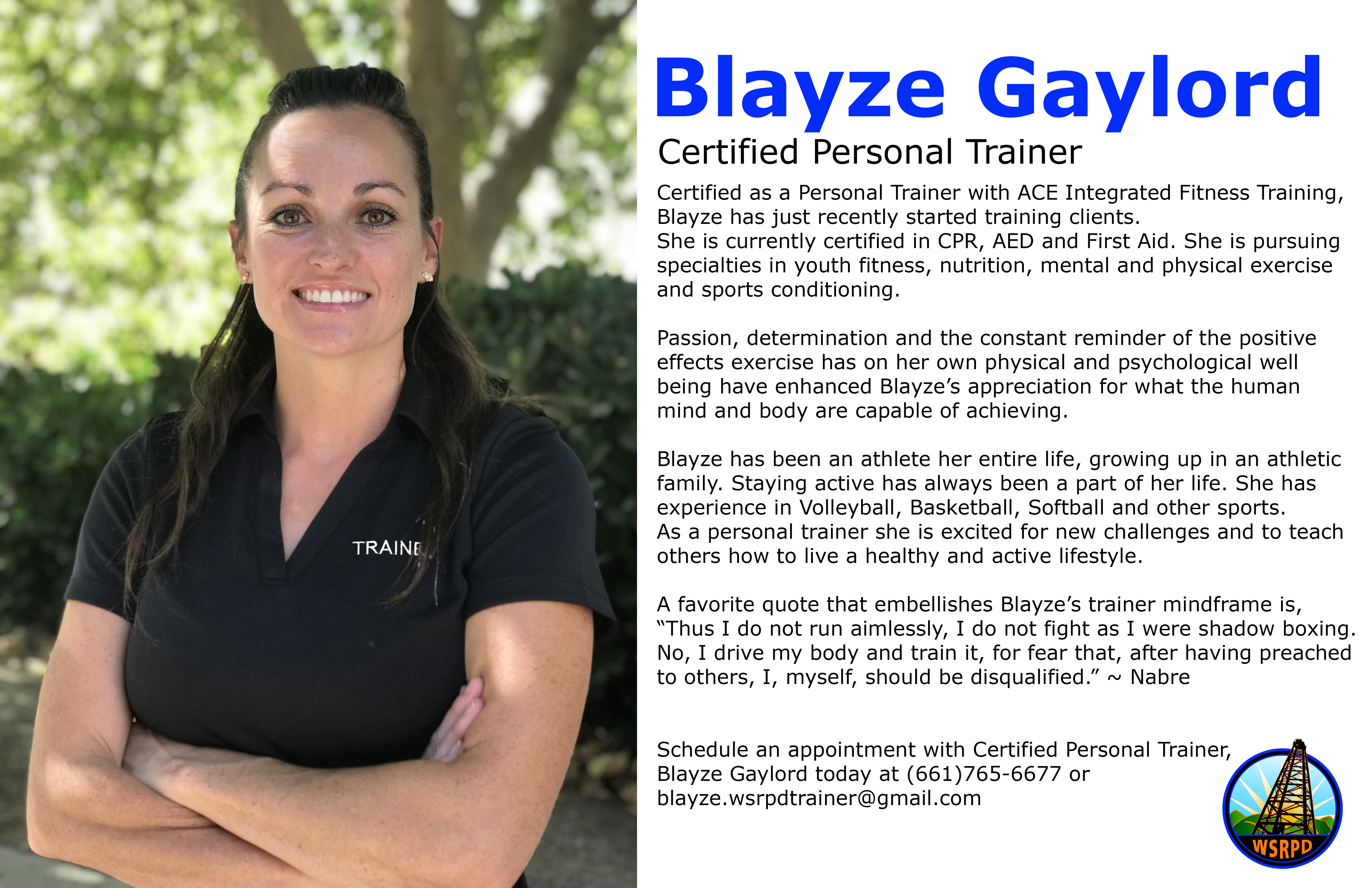 Blayze Gaylord Personal Trainer West Side